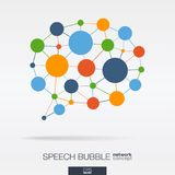 Abstract social media market background. Network, speech bubble message graphic design idea. Dialog quote balloon Stock Image