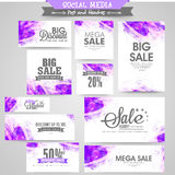 Abstract social media post and header set. Royalty Free Stock Images