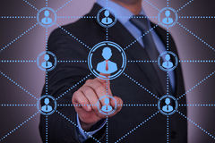 Abstract Social Network Concept stock image