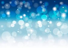 Abstract soft blue background with a white blur lights. Vector illustration Royalty Free Stock Photos