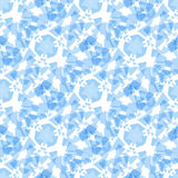 Abstract soft blue geometric rectangle seamless pattern Stock Images