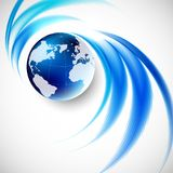 Abstract soft blue wave background Stock Image