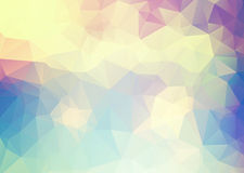 Abstract soft blue yellow pink triangles background Royalty Free Stock Images