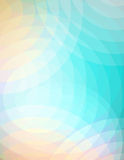 Abstract Soft Circles Background Illustration. An abstract background illustration of soft overlapping circles of turquoise blue, peach, and pink. Vector EPS 10 Stock Photos