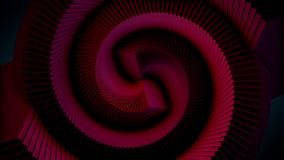 Abstract soft color spiral shape dotted animation background. Color abstract spiral.  stock video