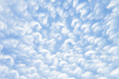 Abstract soft light  blue background  with blurred circles. Small clouds on a sunny day. Background. Royalty Free Stock Image