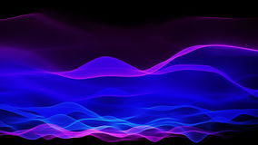 Abstract soft wave background, blue waves motion flow stock video