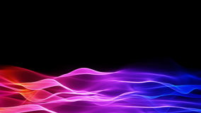 Abstract soft wave background, colorful waves motion flowing animation