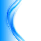 Abstract soft wavy design background. With blue bent light lines in smooth dynamic style. Vector illustration Royalty Free Stock Image