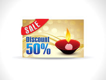 Abstract soil diwali on golden background. Discount card vector illustration Royalty Free Stock Photos
