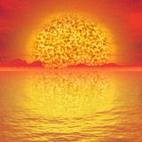 Abstract Solar landscape generated hires background Stock Images