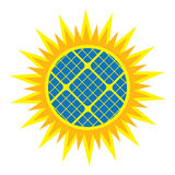Abstract solar panel icon Royalty Free Stock Photography