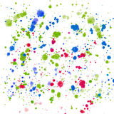Abstract sophisticated wonderful gorgeous elegant graphic artistic beautiful colorful red violet green and blue splashes and drops. Of watercolor hand vector illustration