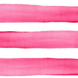 Abstract sophisticated wonderful gorgeous elegant graphic beautiful red pink crimson magenta horizontal lines pattern. Of watercolor hand illustration royalty free stock images