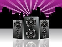 Abstract sound background Royalty Free Stock Images