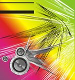 Abstract Sound background. Music abstract background with speakers Stock Photos