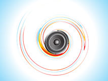 Abstract sound with colorful wave illustration Stock Photography