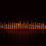 Abstract Sound Equalizer. On dark background for party events Stock Images