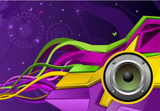 Abstract sound speaker Royalty Free Stock Image