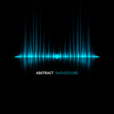 Abstract sound wave background. Blue light background. Vector illustration Stock Photos