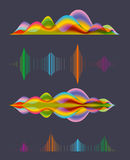 Abstract sound wave design elements Stock Image