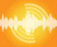 Abstract sound wave with halftone background. Vector illustration Royalty Free Stock Images