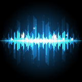 Abstract sound wave technology background Royalty Free Stock Images