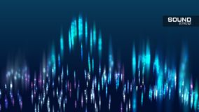 Abstract sound wave vector background. Tune spectrum soundwave. Banner Royalty Free Stock Image