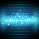 Abstract sound waves, Blue light music Equalizer vector design Royalty Free Stock Photography