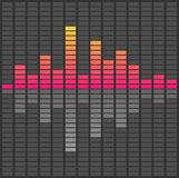 Abstract sound waves equalizer. Audio pulse music Stock Images