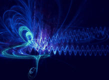 Abstract soundwave. Abstract music symbol and sound-wave Stock Image
