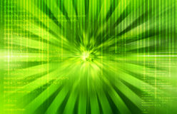 Abstract Source code green technical background Stock Images