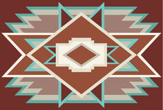 Abstract Southwest Native Background Red 1 Royalty Free Stock Photography