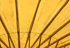 Abstract Spa bamboo umbrella. Royalty Free Stock Images