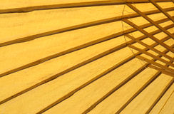 Abstract Spa bamboo umbrella. Stock Image