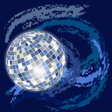 Abstract space background. With disco-ball Royalty Free Stock Image