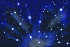 Abstract Space Background. A blue gaseous space background Royalty Free Stock Photos