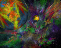 Abstract space background. Artwork for creative design, art and. Entertainment stock illustration
