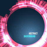 Abstract space background circles red with lights. Vector illustration Royalty Free Stock Images