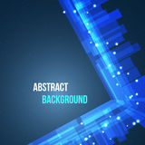 Abstract space background with lights. Vector illustration Royalty Free Stock Photo