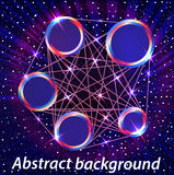 Abstract space background with metal circles for Royalty Free Stock Photo
