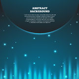 Abstract space background with planet. Galaxy and earth, sunrise Royalty Free Stock Image