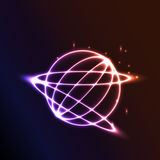 Abstract  space background with planet and  star Stock Image