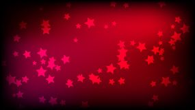 Abstract space background with red asterisks. Multi-colored beautiful stars on a red bright colored background. Vector illustration Royalty Free Stock Photo
