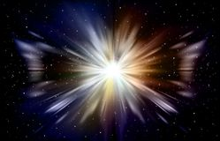Abstract space background with stars. And explode supernova vector illustration vector illustration