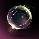 Abstract space ball on a dark background Stock Photo