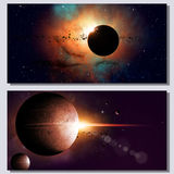 Abstract Space Banners Royalty Free Stock Photo