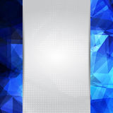 Abstract space blue card or invitation template. Royalty Free Stock Photos