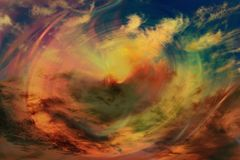 Abstract space color digital background. Transition to hyperspace. Cosmic vortex Royalty Free Stock Photography