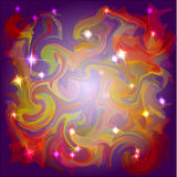 Abstract space colors background with light stars Stock Photos